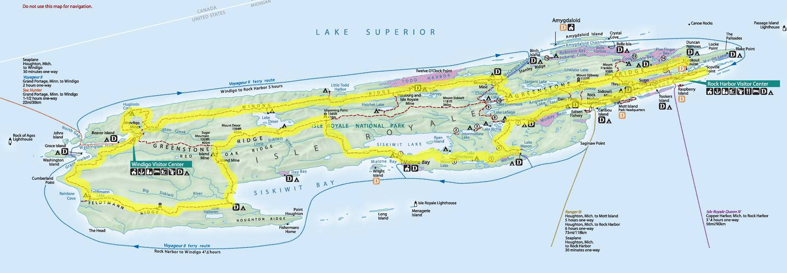 route i hiked. my hike around isle royale  joe's diner