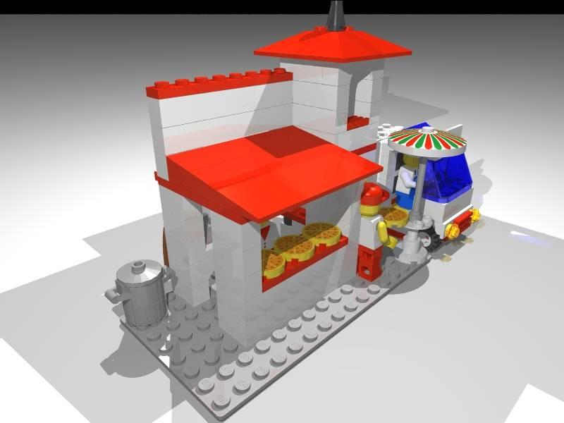 Computer Generated Lego Models - Joe's Diner