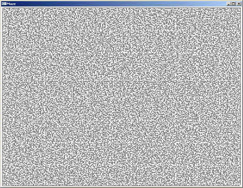 a maze generator for windows